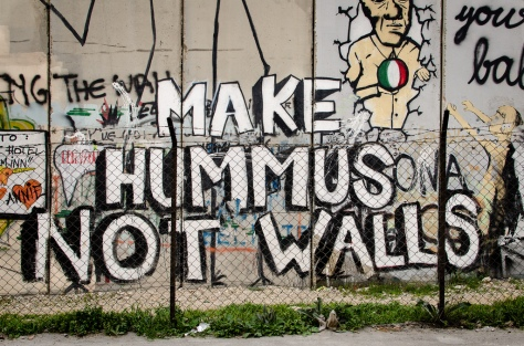 make hummus not walls