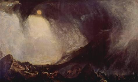 Immagine: William Turner, Bufera di neve: Annibale e il suo esercito attraversano le Alpi, olio su tela, 1812.