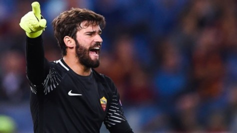 Alisson Becker Roma-Atletico Madrid