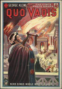"""Locandina del film """"Quo vadis?"""", 1913, diretto da Enrico Guazzoni e tratto dall'omonimo romanzo di Henryk Sienkiewicz."""