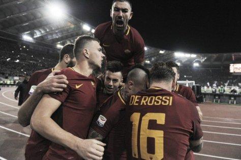 Roma-Lazio 2-1 esultanza kolarov