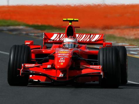 Kimi Raikkonen, Ferrari F2007.