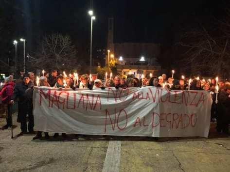 manifestazione Magliana No alla violenza no al degrado