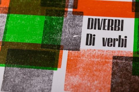 Federico Demartini, Diverbi di Verbi, Good Types, 2019. Photo Dario Sonatore.